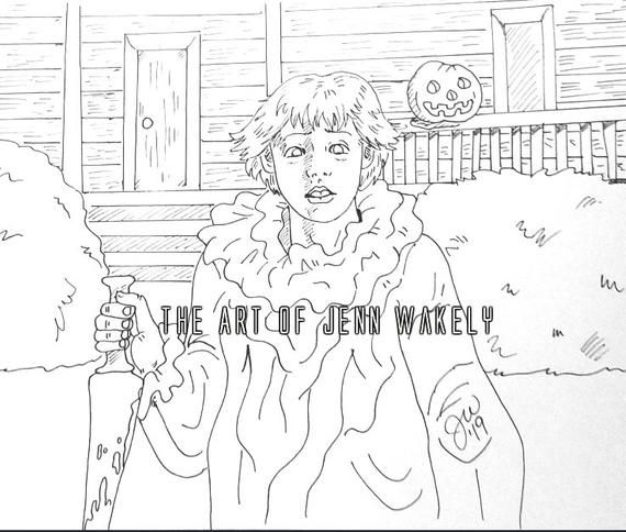 Mikey Myers Coloring Page Michael Myers Halloween 1978 Etsy Coloring Pages Michael Myers Halloween Michael Myers