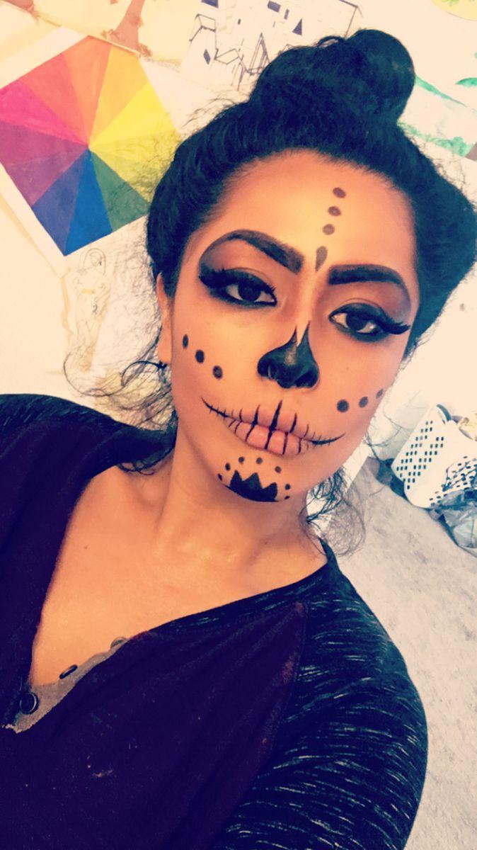 Halloween sugar skull in 2020 Fast makeup, Halloween