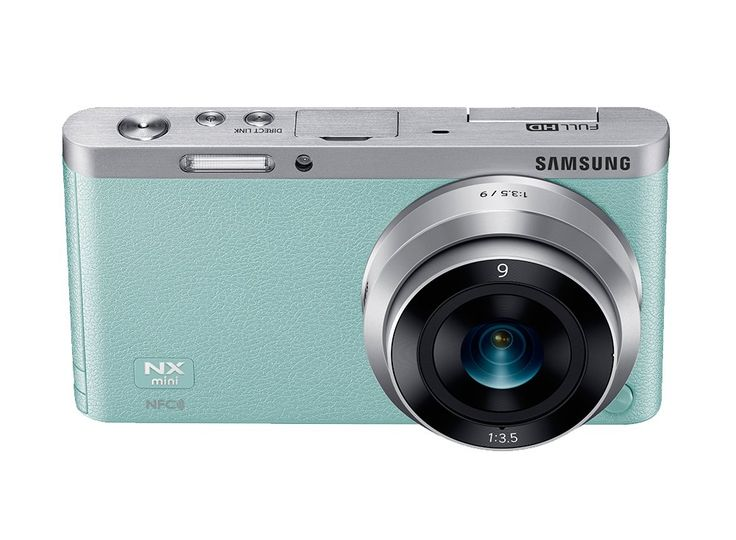 Samsung NX mini the ultimate selfie machine. Meet the cute Samsung NX mini, with mint color, ultra slim and stylish, you can capture and share your picture to your phone, flip the screen ad here you go, your camera ready to take your selfie. Free sd card. http://www.zocko.com/z/JFRxP