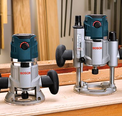 Bosch router set: This is cool - it has both a fixed and a plunge base