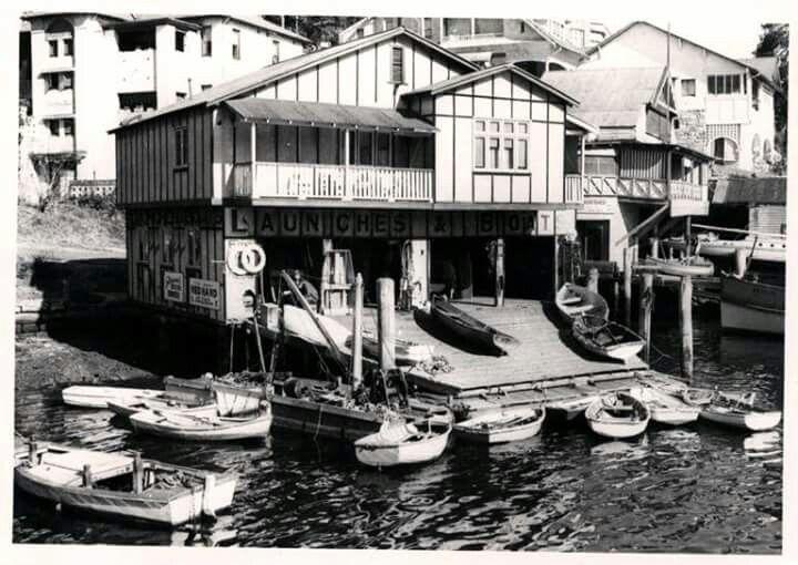 Fagan's Boatshed in Mosman Bay in 1955.