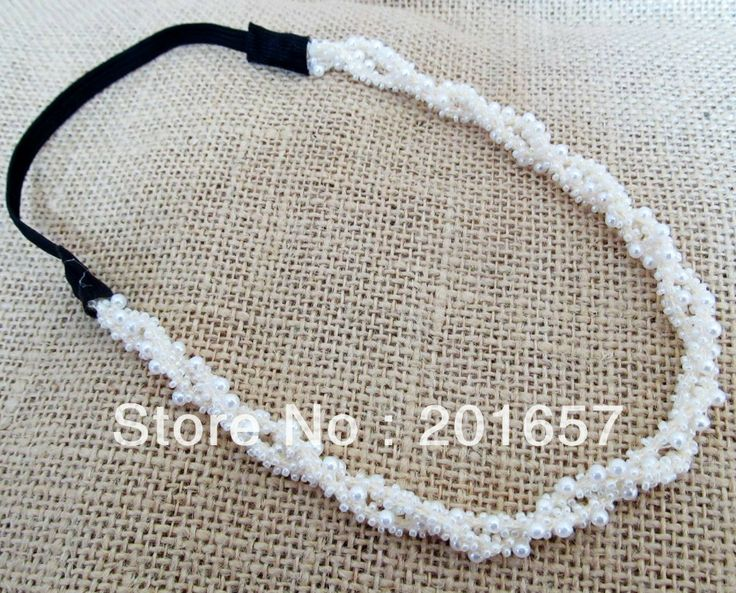Wholesale and Retail korea style pearl beads double rolled headbands hiar accessories 12pcs/lot $16.00 - 20.00