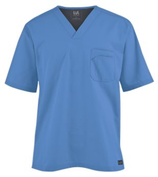 Butter-Soft Scrubs by UA Men's V-Neck Top   Introducing a Butter-Soft scrub top tailored just for men! Style # UAS703C #uniformadvantage #uascrubs #mensscrubs #buttersoftscrubs #comfortscrubs #nurse #nursingscrubs
