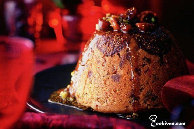 Инжирный пудинг с лаймовым соусом