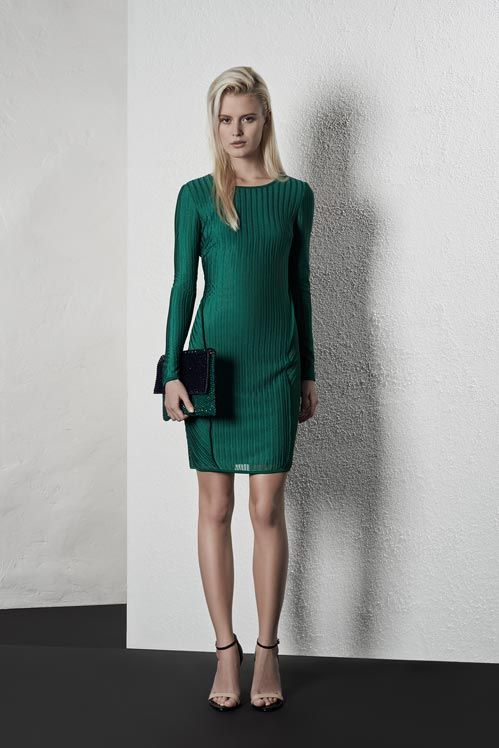 elegant emerald green dress. only Reiss does it so well.