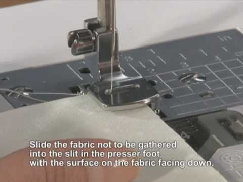 Brother Accessory Gathering Foot English - YouTube