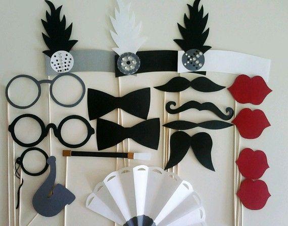 Foto Booth Props 19 Stück Roaring Twenties von kiriwaffles auf Etsy