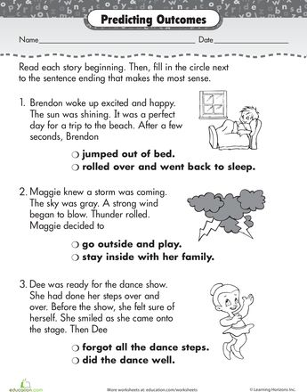 Worksheets Making Predictions Worksheets 3rd Grade 25 best ideas about predicting activities on pinterest making how does it end