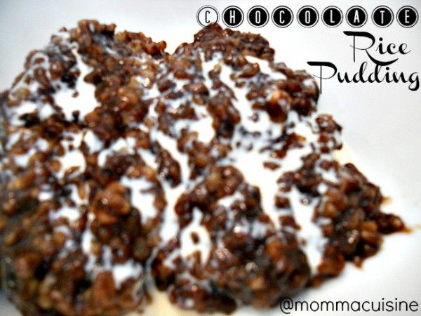 Momma Cuisine   Great Everyday Meals – {recipe} Slow Cooker Chocolate Rice Pudding (Champorado)