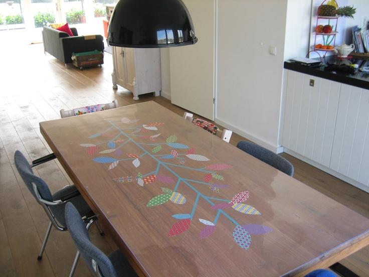 Vrolijk 'gezielde' tafel in Lent... Door Nicole. www.tafelziel.nl