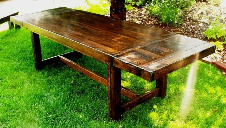 farmhouse style extension table (removable end leaves)Decor Ideas, Chisel Extened, Extened Tables, James'S Jam, Extensions Tables, Farmhouse Style, Farmhouse Tables, Carpenterjamescom, Carpenterjames Com