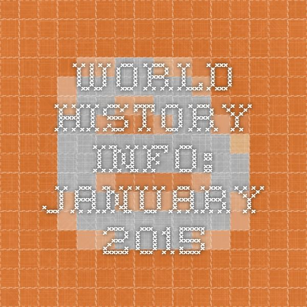WORLD HISTORY INFO: January 2015