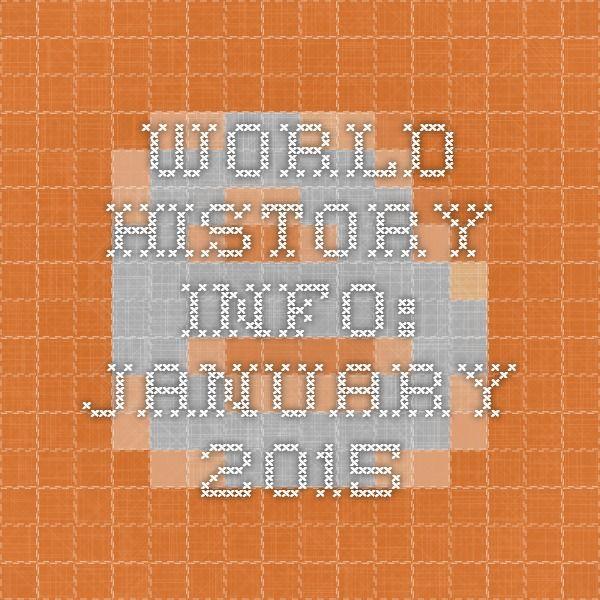 WORLD HISTORY INFO: January 2015