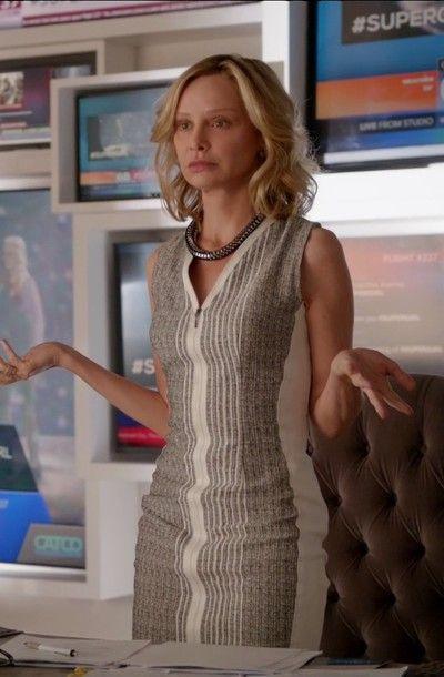 Calista Flockhart Cat Grant Supergirl S01E01 Pilot
