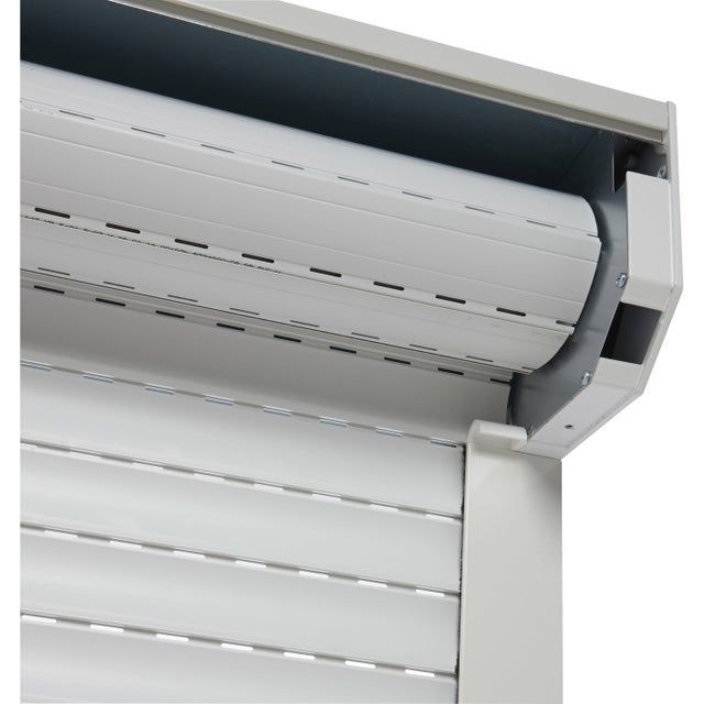 Volet Roulant Electrique Alu Isole Blanc Motorise Filaire H 155 X L 120 Cm Leroy Merlin In 2020 Facade House Shutters Blinds