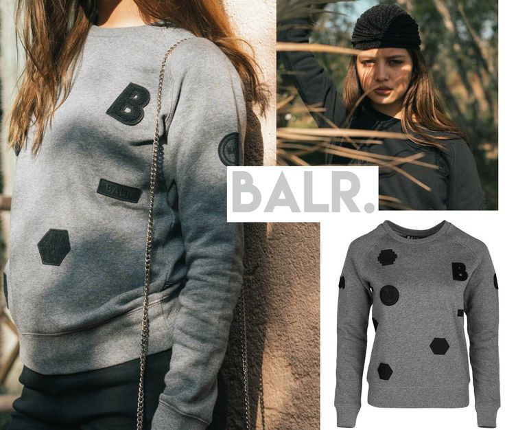 Sweater Weather .. brrr it's cold outside. Wear the BALR. Patch Crew Neck sweater Women in grey or black #BALR. #voetbal #football #cosy #sweater #coldweather #letsstayinside #comfort #fashion #musthave Check link in BIO - shop BALR.
