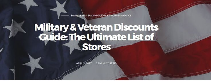 Military Discounts 2017: 165+ Stores That Offer Discounts to Military (USA) https://redd.it/65xve9 #militarydiscounts
