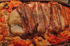 Kalkunbryst med bacon i Römertopf