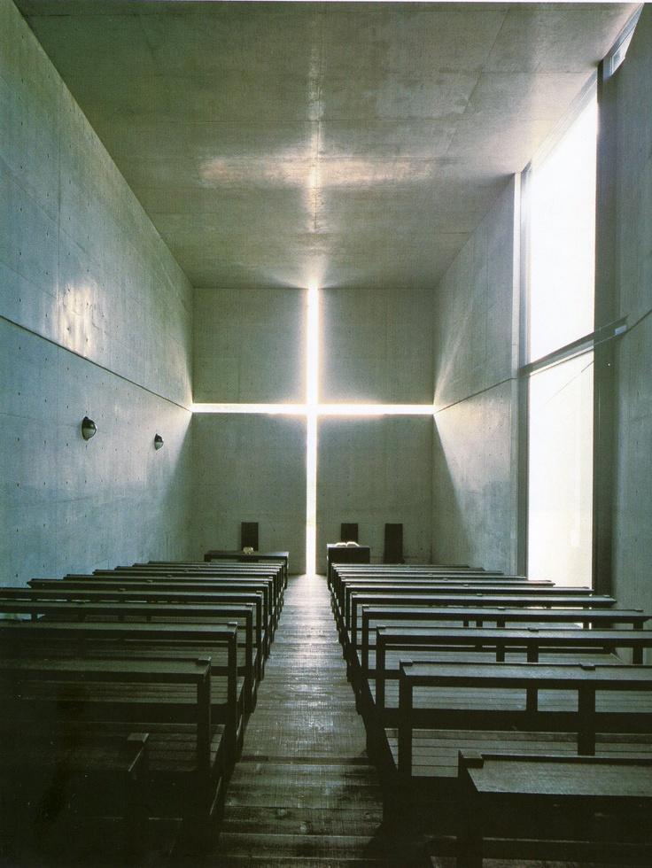 Igreja da Luz, Ibaraki, Osaka, Japão - Tadao Ando (Imagem retirada da Coleção Folha Grandes Arquitetos)