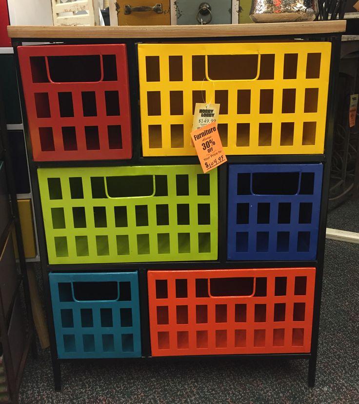 Bon Craftroom Organization: Unique Storage Ideas   Hobby Lobby Take III    Colorful Metal Basket Unit (image)