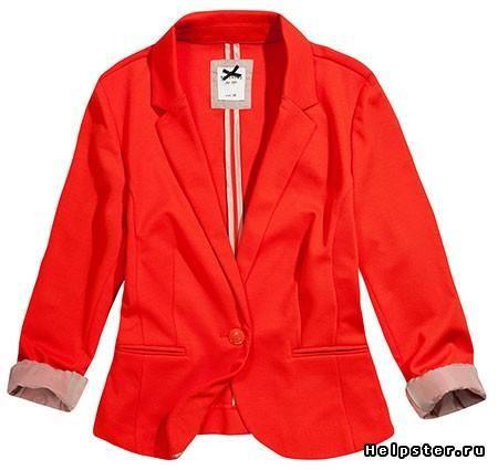 Красный или оранжевый пиджак