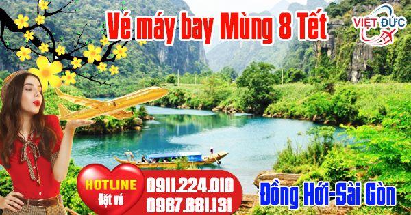 Ve may bay Mung 8 tet Dong Hoi Sai Gon bao nhieu tien