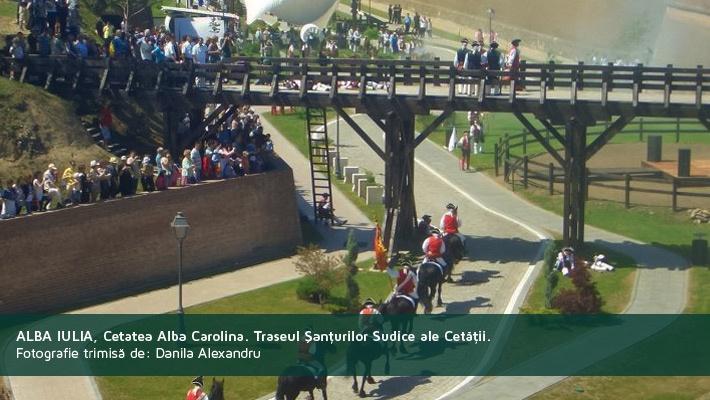 Alba Iulia, Cetatea Aba Carolina pe Traseul Santurilor Sudice ale Cetatii.Poza trimisa de catre Danila Alexandru  28 de poze frumoase cu orase din Romania (partea 2).  Vezi mai multe poze pe www.ghiduri-turistice.info