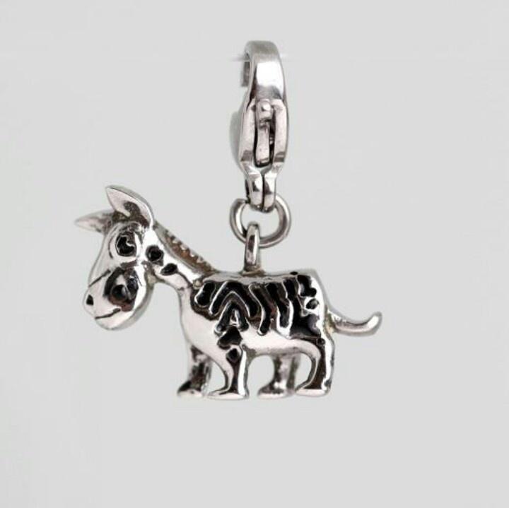 Zebra steel charm. Cute