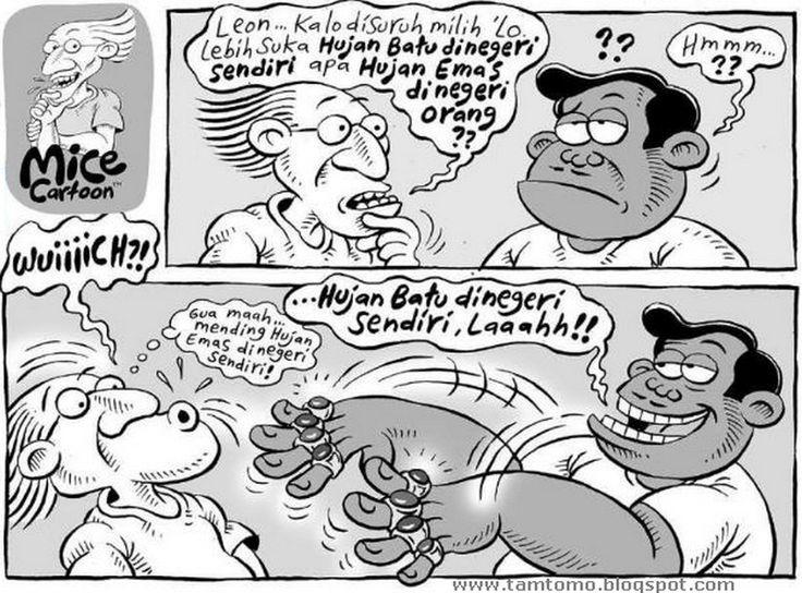 Mice Cartoon, Kompas Minggu - 3 Mei 2015: Hujan Batu