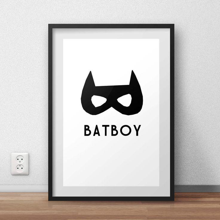 Batman A personal favourite from my Etsy shop https://www.etsy.com/au/listing/508137706/batboy-poster-art-nursery-kids-room-wall