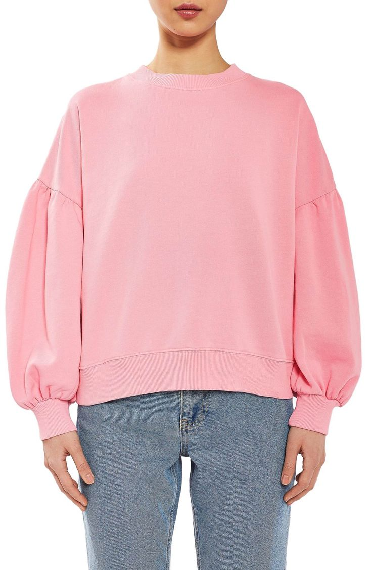 Main Image - Topshop Boutique Balloon Sleeve Sweatshirt