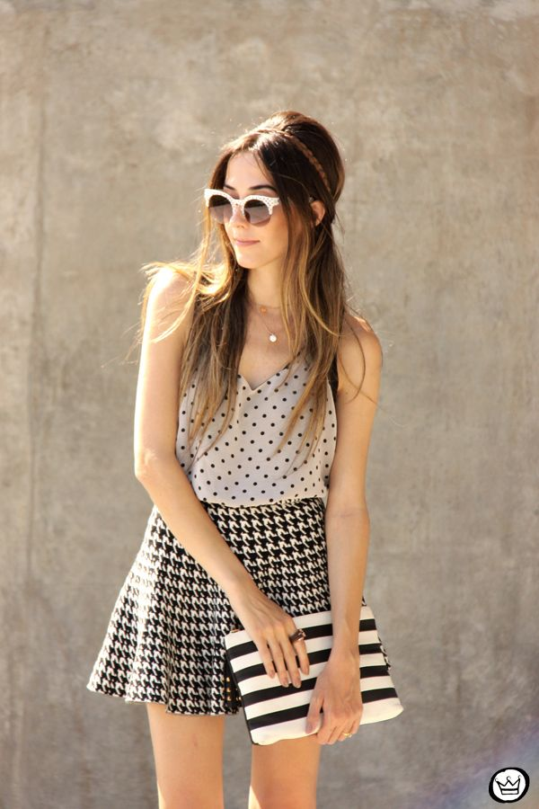 FashionCoolture - gorgeous look with vivid patterns and simple colours