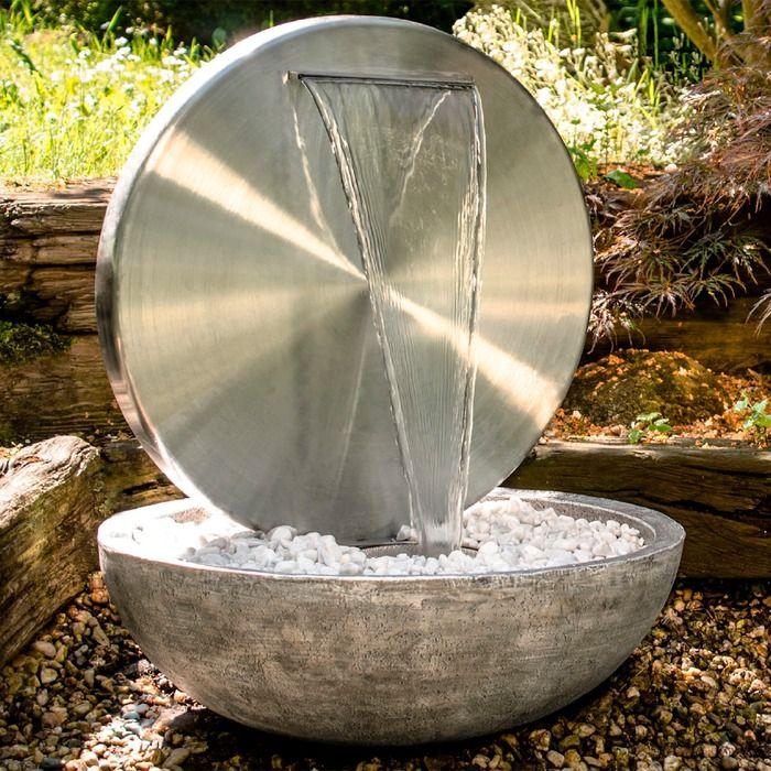 Kohko Gartenbrunnen Bocca Silber Edelstahl Gartenbrunnen Brunnen Garten Garten Design Plane