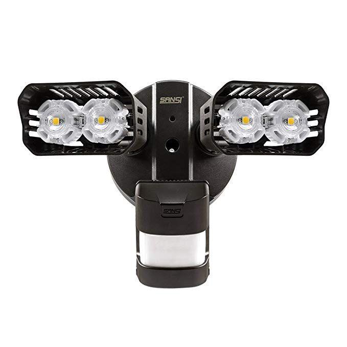 Sansi Led Security Lights 18w 150watt Incandescent Equiv Motion Sensor Lights 1800lm 5000k Dayl Motion Sensor Lights Sensor Lights Outdoor Security Lights