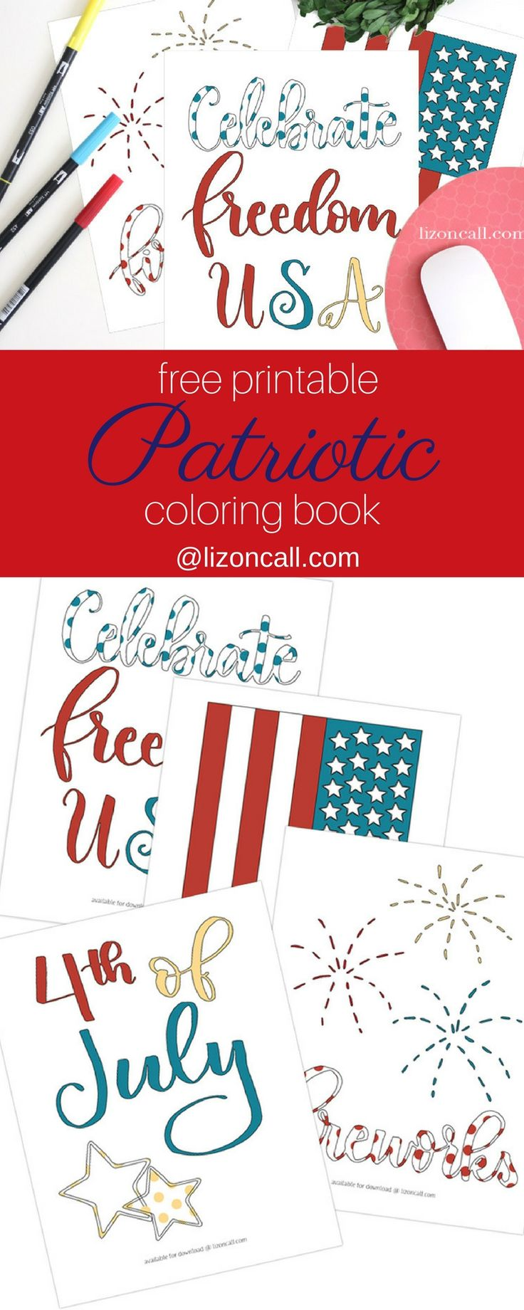 Coloring pages for dots for 4 of july - Free Patriotic Coloring Book