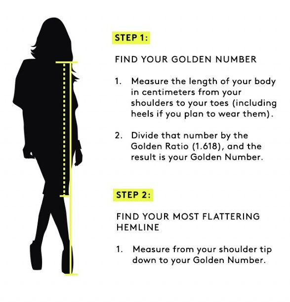 Guide -  Find  Your Most Flattering Hemline Length (height)