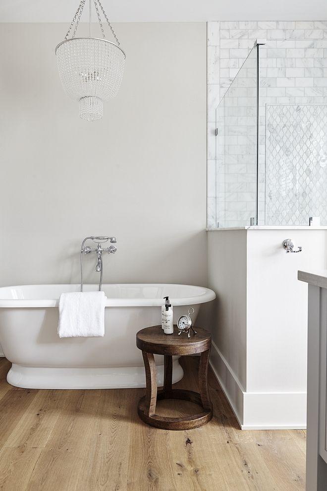 Paint Color Is Benjamin Moore Pale Oak Oc 20 Basement Decor Bathroom Interior Vintage Tub
