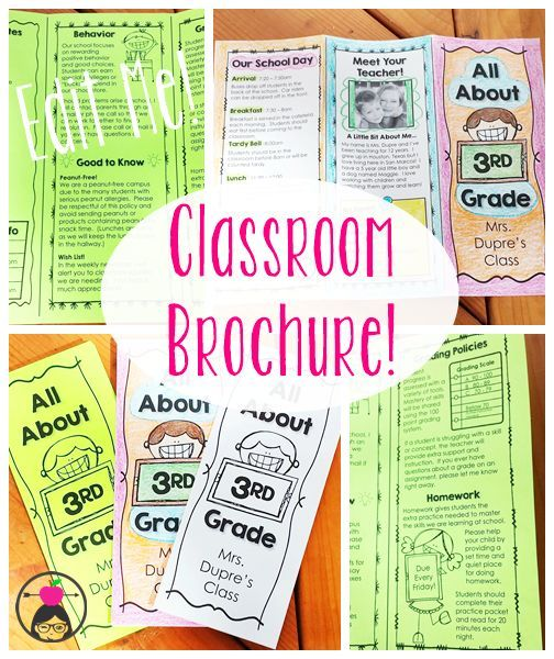 A ready-to-go Class Brochure template that you can edit and print in minutes!  Great for Open House, Meet the Teacher Night, or the First Day of School!