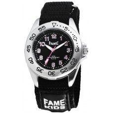 Fame Mulheres Relógios Analógicos pratedo preto