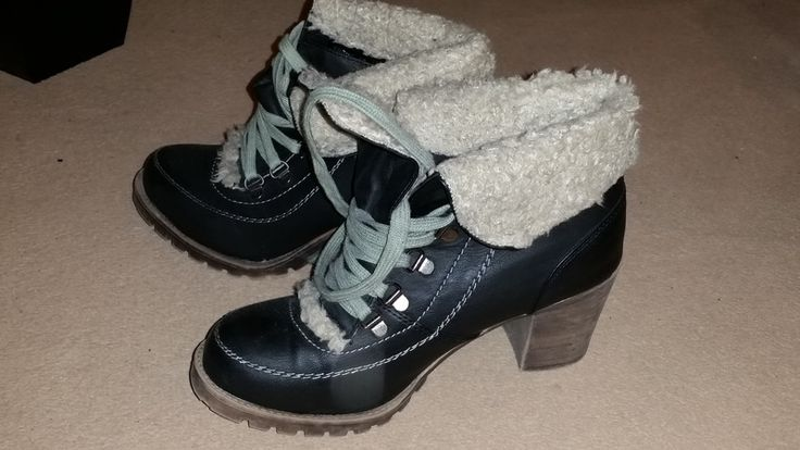 Primark Heeled Sherpa Lace Trekking Hiking Shoes Boots