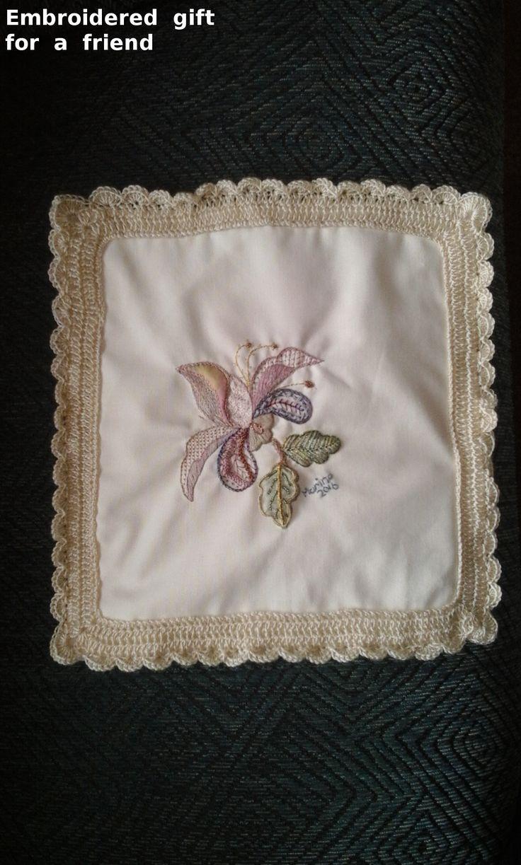 Mixed  Medium  Jacobean  Embroidered  Cushion  Cover
