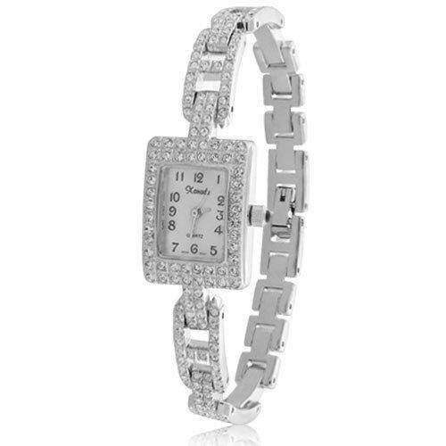 Bling Jewelry Osirock Crystal Art Deco Pave Square Links Fashion Watch