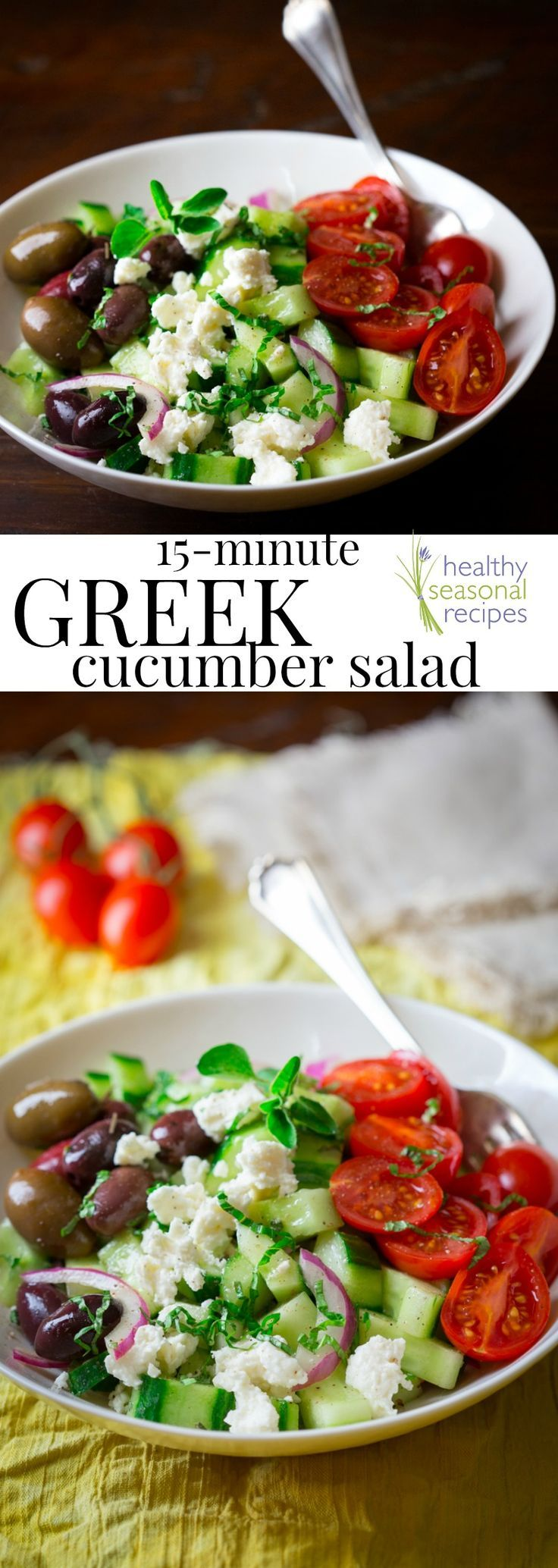 101 best greek food recipes images on pinterest greek recipes 15 minute greek cucumber salad healthy seasonal recipes forumfinder Image collections