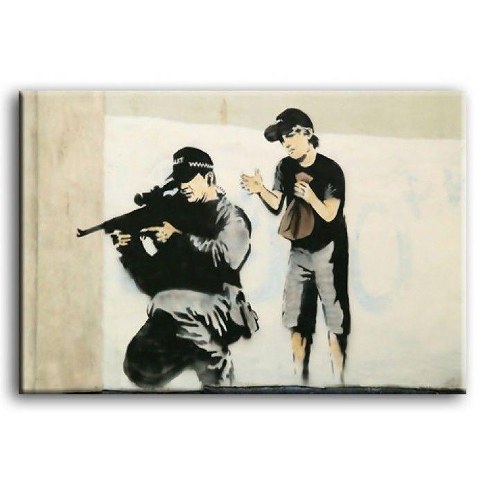 The Banksy Shop - Banksy Canvas Print - Sniper, £29.95 (http://www.thebanksyshop.co.uk/banksy-canvas-print-sniper/)