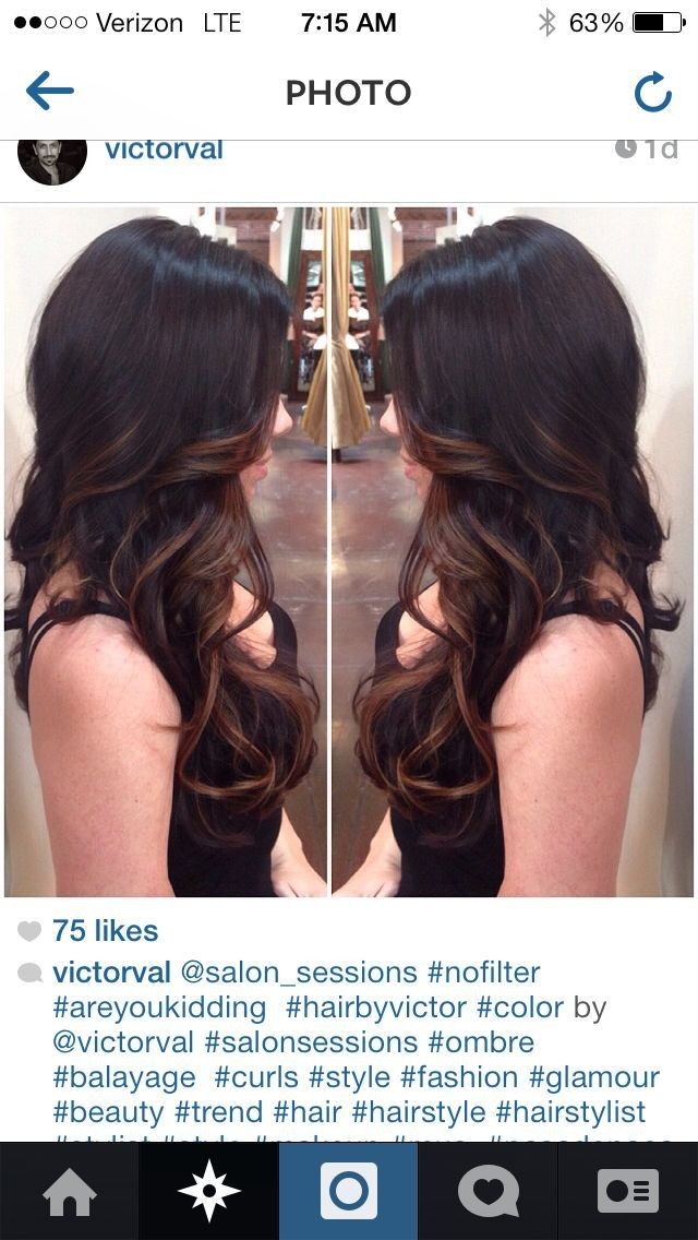 Balayage'd chocolate black and brown - Buscar con Google