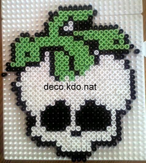 Deuce Gorgon - Monster High Skull hama perler beads by Deco.Kdo.Nat