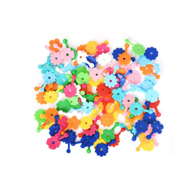 OMM Design Mini Daisy Chain Garlands: Following on from our best selling Daisy Chain garlands- we now stock a sweet mini version! These clever little plastic flowers are a true classic toy as they have been making them in the same factory in Germany since the 70's. Each flower is simply hooked into each other to become necklaces, bracelets, belts, headbands or decorations. Just like daisy-chains, except no breaking!
