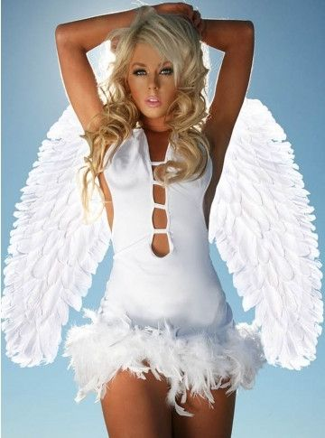Angel Sexy Halloween Costume - www.juntoslubricants.com #halloween