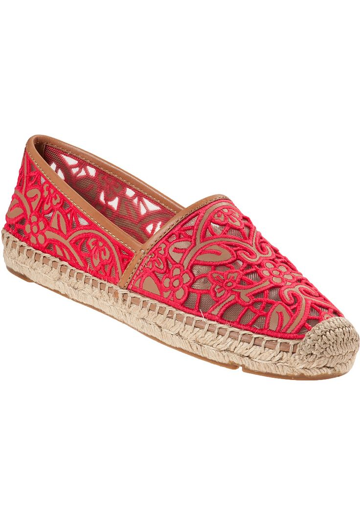 Tory Burch Lucia Flat Espadrille Natural Leather - Jildor Shoes, Since 1949