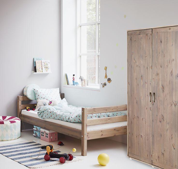 Spectacular Kinderzimmer mit Einzelbett FLEXA CLASSIC individuell zusammenstellbar und Schrank FLEXA CLASSIC terra